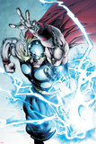 Marvel Adventures Super Heroes No.19: Thor Throwing Mjolnir with Lightning and Energy Posters by Stephen Segovia