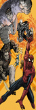Spider-Man/Fantastic Four No.3 Cover: Spider-Man, Wolverine, Hulk, and Ghost Rider Jumping Posters by Mario Alberti
