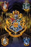Harry Potter- Hogwarts Crests Kunstdrucke