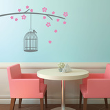 Bird Cage Branch Wall Decal