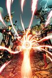 Avengers 8 Cover: Iron Man, Captain America, Devoux, Tamara, Hulk, Ms. Marvel, Thor, Hyperion Print by Dustin Weaver