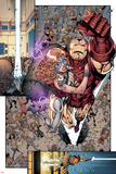 Iron Age No.3: Iron Man and Dazzler Flying Poster by Todd Nauck