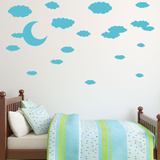 Cloudy Night Wall Decal