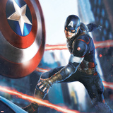 The Avengers: Age of Ultron - Captain America Throwing his Shield Prints