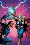 Marvel Adventures Super Heroes No.6 Cover: Thor Fighting Poster by Clayton Henry