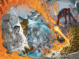 Spider-Man/Fantastic Four No.3: Hulk, She-Thing, Invisible Woman, Spider-Man, and Ghost Rider Prints by Mario Alberti