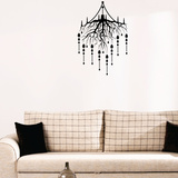 Rooted Chandelier Wall Decal