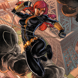 Fear Itself: Black Widow No.1 Cover: Black Widow Jumping Posters by Michael Ryan