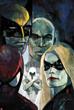 Moon Knight No.6 Cover: Ms. Marvel, Spider-Man, War Machine, Moon Knight, Luke Cage, and Wolverine Photo by Alex Maleev