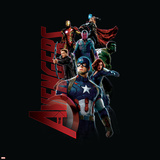 The Avengers: Age of Ultron - Captain America, Hulk, Iron Man, Black Widow, Vision, Hawkeye, Thor Posters