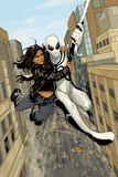 X-23 No.13: Spider-Man and X-23 Swinging through the City Posters by Phil Noto