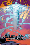 Uncanny X-Men No.10 Cover: Unit Flying and Transforming Prints by Adam Kubert