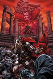 Thor No.614 Cover: Thor and Mephisto Fighting Prints by Mico Suayan