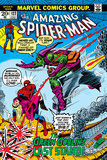 Amazing Spider-Man No.122 Cover: Spider-Man, Gwen Stacy, and Green Goblin Flying Reprodukcje