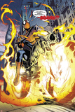 Amazing Spider-Man/Ghost Rider: Motoerstorm No.1: Spider-Man Riding a Flaming Motorcycle Print by Lee Garbett