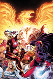 Avengers vs X-Men No.2: Iron Man, Magneto, Thor, and Hope Summers Poster par Jim Cheung