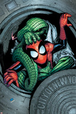 Marvel Adventures Spider-Man No.11 Cover: Spider-Man and Lizard Fighting Posters by Patrick Scherberger