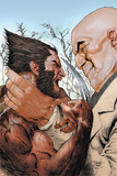 X-Men: Wolverine and Kingpin Fighting Cover Print by Renato Guedes