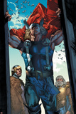 Thor: The Rage of Thor No.1: Thor Seen Through an Opening Print by Mico Suayan