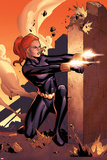 Marvel Adventures Super Heroes No.10 Cover: Black Widow Shooting Posters by Clayton Henry