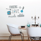Love Made Edible Wall Decal