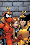 Marvel Adventures Spider-Man No.7 Cover: Spider-Man, Wolverine, and Shadowcat Standing Posters by Patrick Scherberger