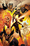 Astonishing X-Men No.35: Storm, Cyclops, Armor, Beast, Wolverine, Frost Posters by Phil Jimenez