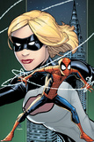 Marvel Adventures Spider-Man No.8 Cover: Spider-Man and Emma Frost Posing Posters by Patrick Scherberger