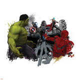 The Avengers: Age of Ultron - Hulk Iron Man, Captain America, and Thor vs. Ultron Poster