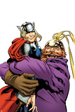 Thor The Mighty Avenger No.4 Cover: Thor and Volstagg Lifting Posters by Chris Samnee