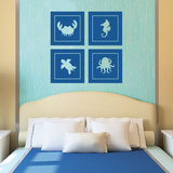 Large Sea Creatures Wall Decal