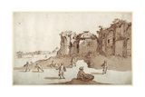 Young Men Playing Pelota Inside the Baths of Diocletian Giclee Print by Sebastian Vrancx