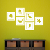 Small Sea Creatures Wall Decal