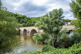 Old Roman Bridge Spanning the River Nahe Photographic Print by Jorg Hackemann