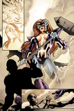 Fear Itself No.2: Panels with Titania Standing with a Hammer Posters by Stuart Immonen