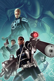 Secret Warriors No.28 Cover: Nick Fury, Steve Rogers, and Dum Dugan Standing with Guns Posters by Paul Renaud