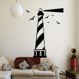 Striped Lighthouse Wall Decal