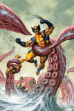 Wolverine/Hercules: Myths, Monsters & Mutants No.4 Cover: Trapped by a Sea Monster Posters by Joe Jusko