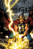 Thor: First Thunder No.3 Cover: Thor Smashing Posters by Jay Anacleto