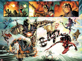 Fear Itself No.7: Iron Man, Wolverine, Iron Fist, Black Widow, Spider-Man, Ms. Marvel and Others Prints by Stuart Immonen