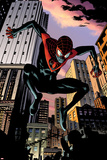 Ultimate Comics Spider-Man No.7: Spider-Man Jumping Poster by Chris Samnee
