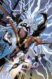 Uncanny X-Men No.531: Storm, Northstar, Angel, Dazzler, and Pixie Flying Plakater af Greg Land