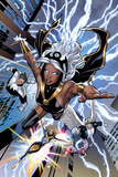 Greg Land - Uncanny X-Men No.531: Storm, Northstar, Angel, Dazzler, and Pixie Flying - Reprodüksiyon