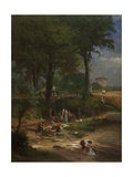 Washing Day Near Perugia, 1873 Giclee Print by George Snr. Inness