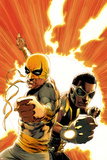 Power Man and Iron Fist No.4 Cover: Iron Fist and Power Man Posing Poster by Mike Perkins