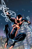 The Amazing Spider-Man No.650 Cover: Spider-Man Swinging Planscher av Humberto Ramos