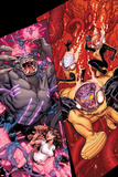 Wolverine & The X-Men No.7 Cover: Kitty Pryde, Beast, Iceman, and Rachel Summers Posters by Nick Bradshaw