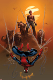 Astonishing Spider-Man & Wolverine No.4 Cover: Spider-Man and Wolverine Prints by Adam Kubert