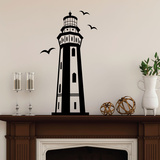 Tiered Lighthouse Wall Decal