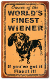World's Finest Weiner Tin Sign